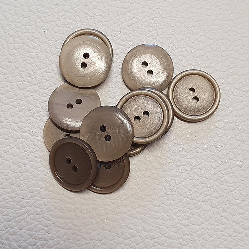 10-delige set beige knopen - Doorsnede 18mm