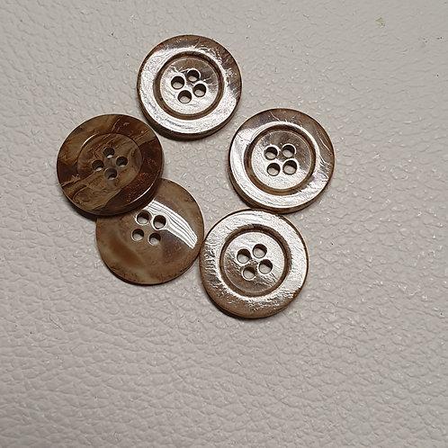 10-delige set bruine knopen - Doorsnede 22m