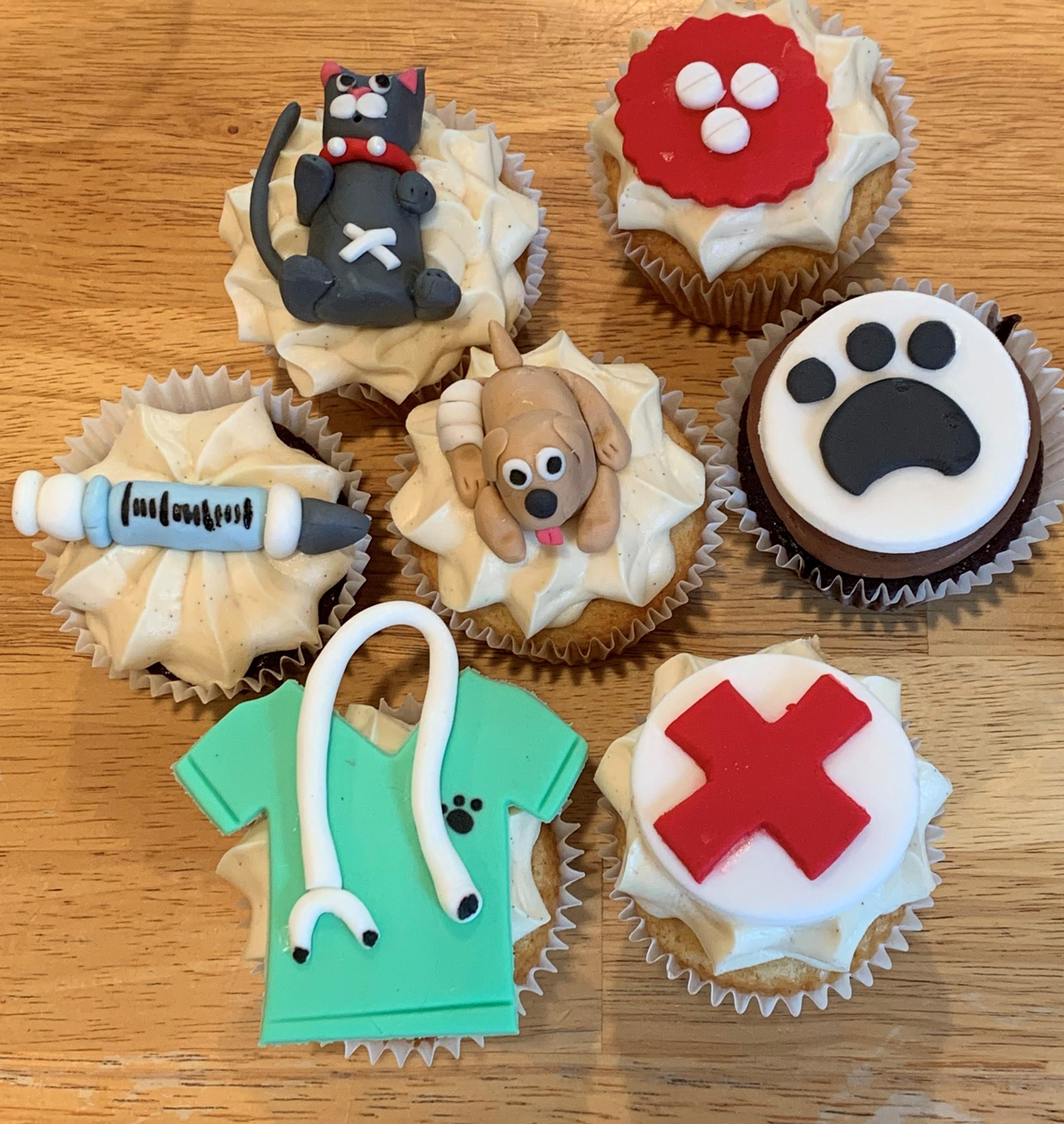 Vet Tech Cupcakes