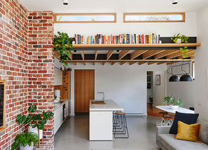 Altereco created a sustainable design in Yarraville using a red brick feature wall.
