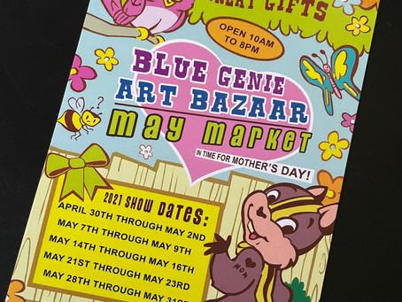 Blue Genie Art Bazaar May Market