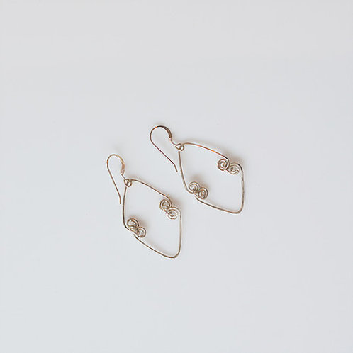 Hammered Kinetic Earrings