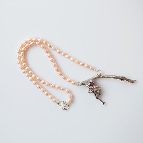 Redbud Branch Pearl Necklace