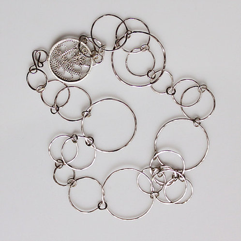 Circle Necklace with Filigree