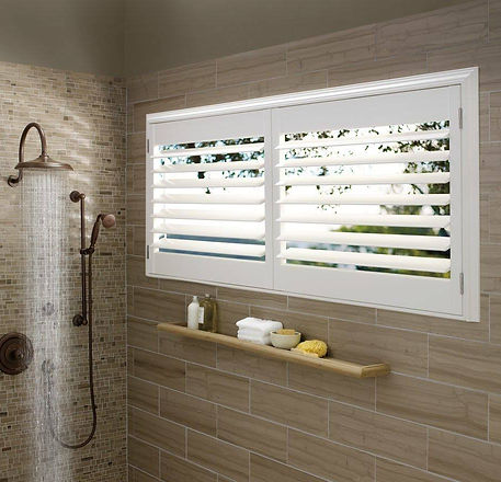Come and see our selection of Hunter Douglas Winow Treatments! We offer some that are perfect for any bathroom! You get to choose whether you want privacy over sunlight, or even both combined into one! Skeptical? Stop in and see our displays for yourself!