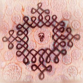 Kolam 108 | Aum | Golden Alchemists Meditate on Form, Let Go of Form