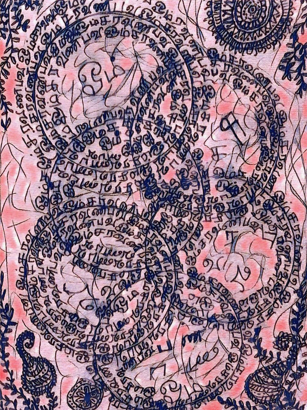 Divine Art of Neelam Sundaram   Meditate on Sakti, feminine energy, who empowers this form. Meditate on Sakti, feminine energy, who  transcends this form.  Your Guru nearby. Your Guru Beyond. Sakti, feminine energy,  empowers all forms, transcends all forms.   Aum Sundaram Aumkaar Sundaram