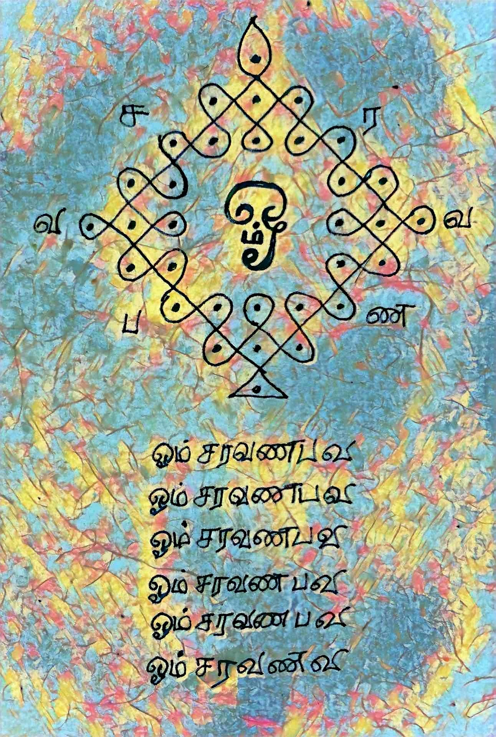 Divine Art of Neelam Sundaram | Meditate on Sakti, feminine energy, who empowers this form. Meditate on Sakti, feminine energy, who  transcends this form.  Your Guru nearby. Your Guru Beyond. Sakti, feminine energy,  empowering all forms, transcending all forms. | Aum Sundaram Aumkaar Sundaram