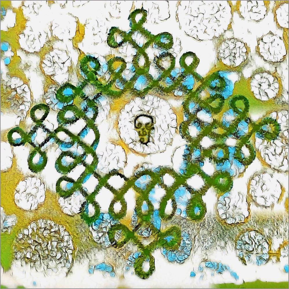 Meditate on Aum, the cosmic sacred sound who creates this Kolam. Meditate on Aum, the cosmic sacred sound who transcends this form.  Your Guruji nearby. Your Gurudeva Beyond. Aum, cosmic sacred sound. Aum, creates all forms, transcends all forms. | Aum Sundaram Aumkaar Sundaram