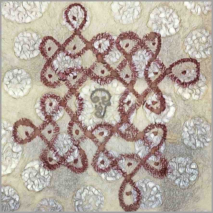 Meditate on Aum, the cosmic sacred sound who creates this Kolam. Meditate on Aum, the cosmic sacred sound who transcends this form.  Your Guruji nearby. Your Gurudeva Beyond. Aum, cosmic sacred sound. Aum, creates all forms, transcends all forms.   Aum Sundaram Aumkaar Sundaram