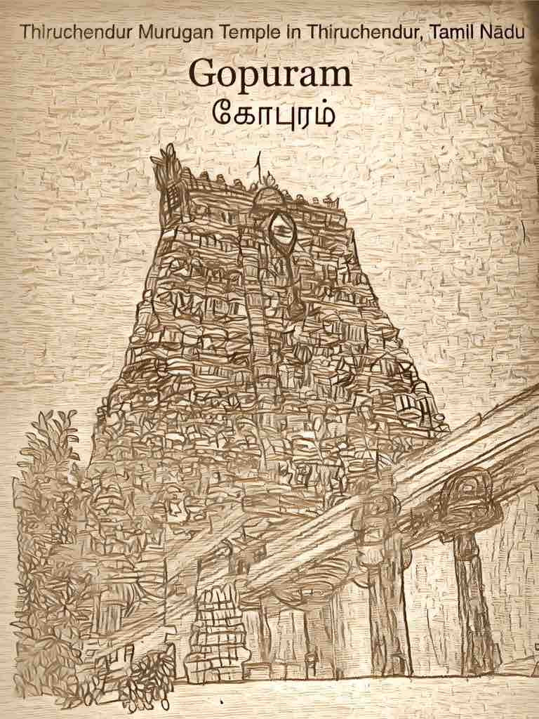 Meditate on this Gopuram, a cosmic gateway to the Beautiful Masculine. Meditate on this Gopuram, its 9 kalasam.  Your Guruji nearby. Your Gurudeva Beyond. Gopuram, cosmic form. Gopuram, transcends form.                                   Aum Sundaram Aumkaar Sundaram