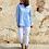 Thumbnail: Camisa azul cuello bebé