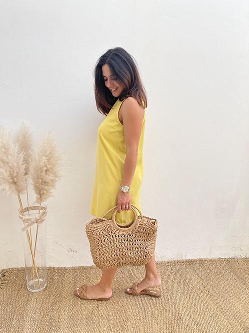 Vestido básico amarillo