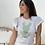 Thumbnail: Camiseta tul verde manga