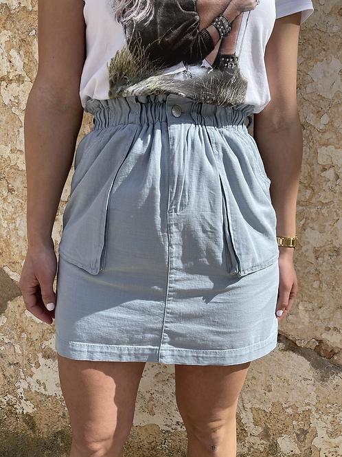 Falda goma azul