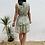 Thumbnail: Vestido cruzado flores verde