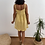 Thumbnail: Vestido mostaza botones