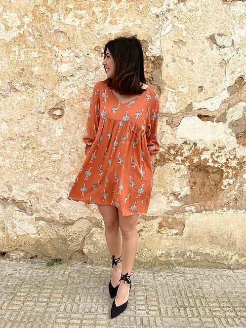 Vestido flamencos naranja