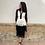 Thumbnail: Vestido bicolor flecos