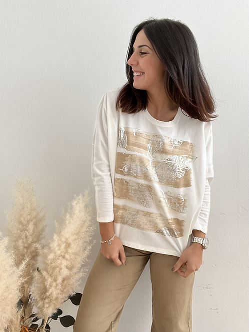 Camiseta básica camel