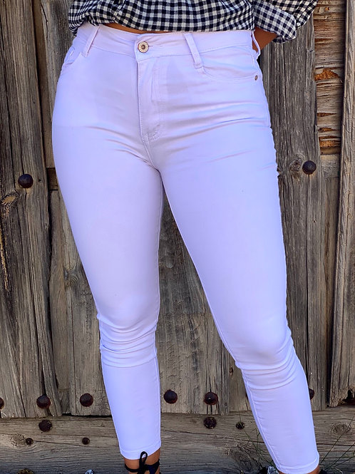 Pantalón blanco lazo