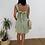 Thumbnail: Vestido lino lazo verde
