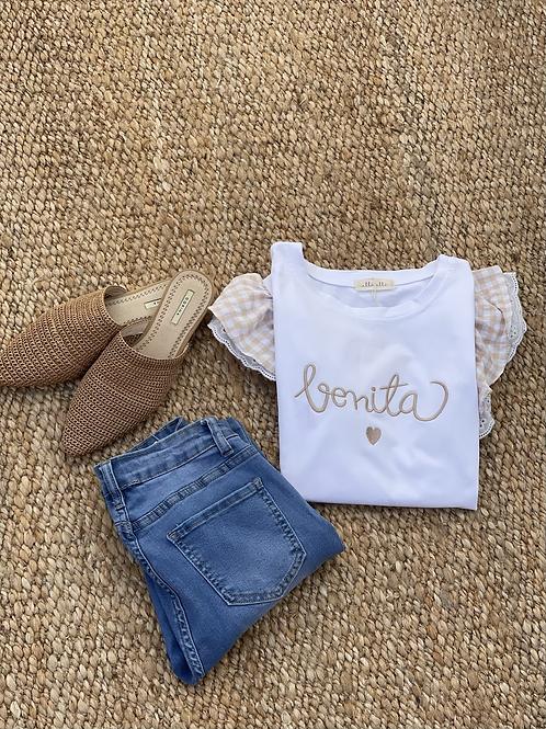 Camiseta bonita beige