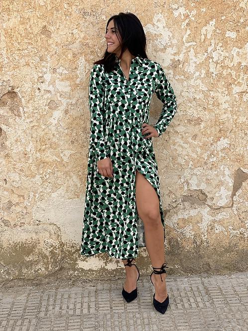 Vestido estampado Compañia verde