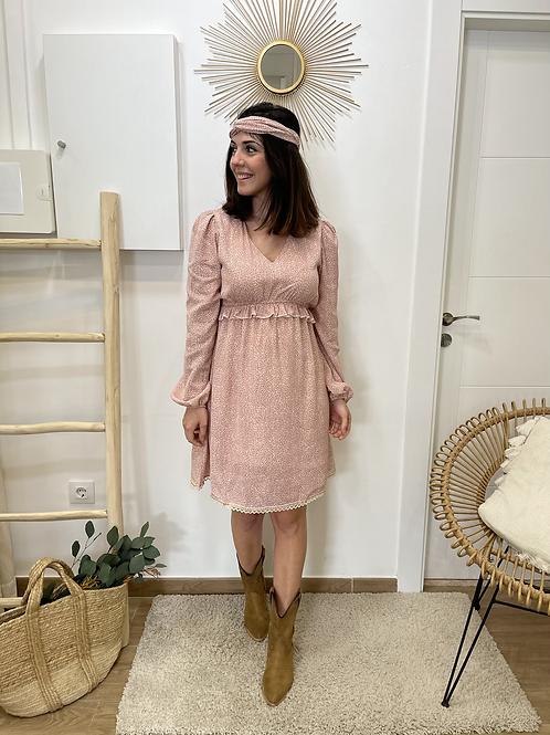 Vestido Esther rosa