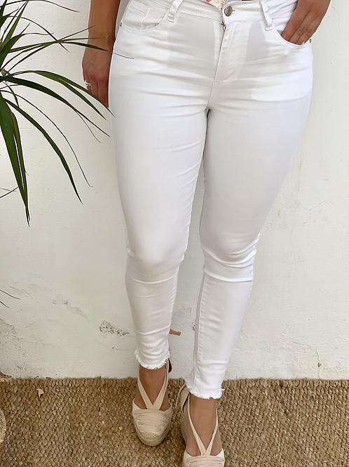 Pantalón blanco push up