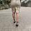 Thumbnail: Falda estampada de hojas