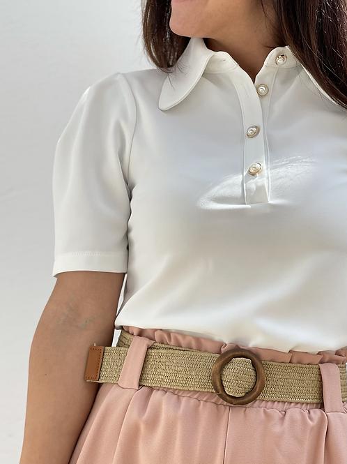 Camisa esmeralda blanca
