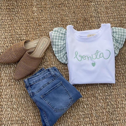 Camiseta bonita verde agua