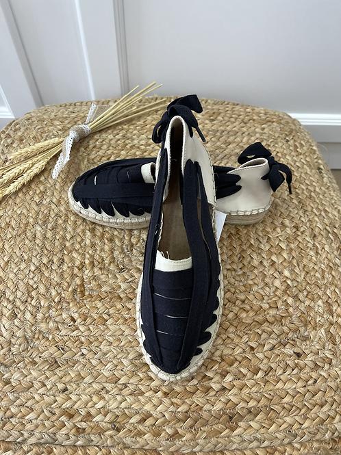 Sandalia valencia beige-negra