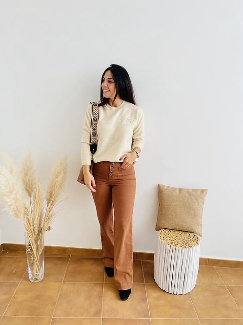 Jersey básico A beige