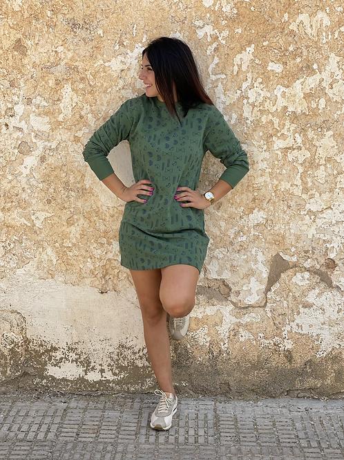Vestido algodón verde Compañia