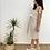 Thumbnail: Vestido cuadro vichy beige