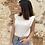 Thumbnail: Camiseta blanca hombreras