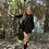 Thumbnail: Vestido negro estampado