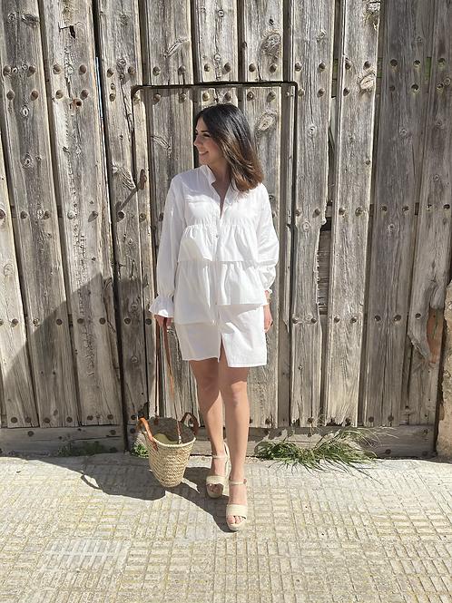 Vestido volantes blanco