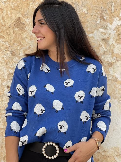 Jersey azul ovejas