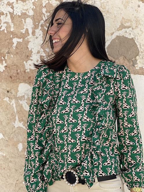 Camisa jirafas verde
