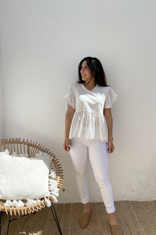 Camisa blanca calada