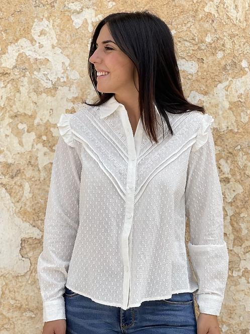 Camisa básica blanca plumeti