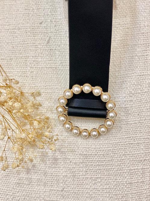 Cinturón de Perlas negro