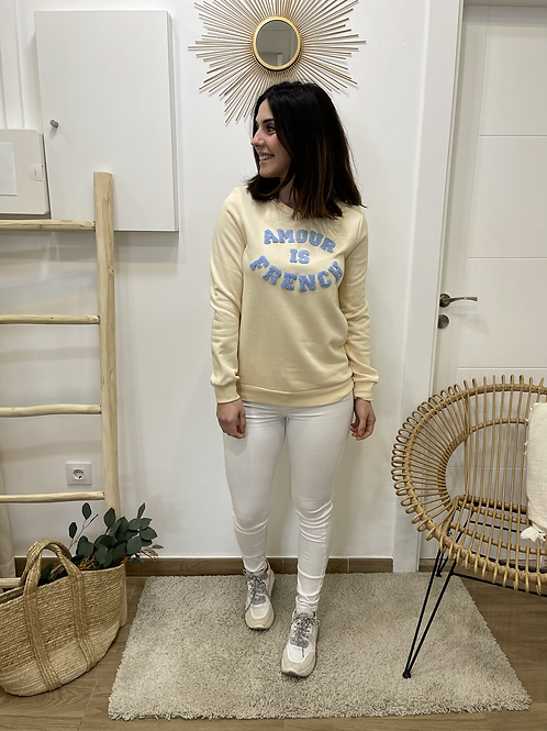 Sudadera amour is french beige
