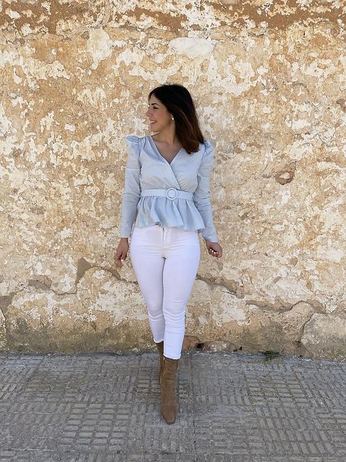 Blusa Ángela azul