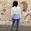 Thumbnail: Sudadera blanca rayas