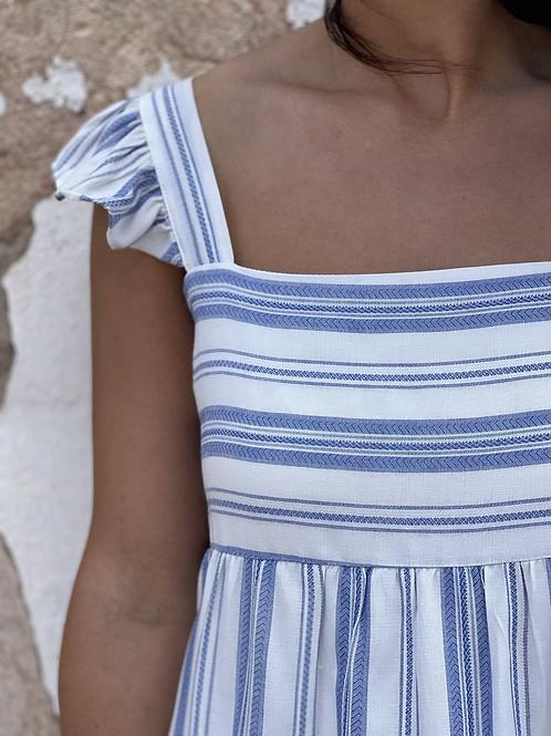 Vestido Eloísa rayas azul