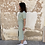 Thumbnail: Vestido midi algodón verde